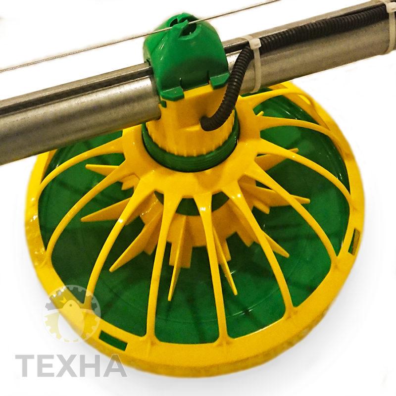 Кормушка KoChiBo для выращивания бройлеров, 16 лучей, концевая