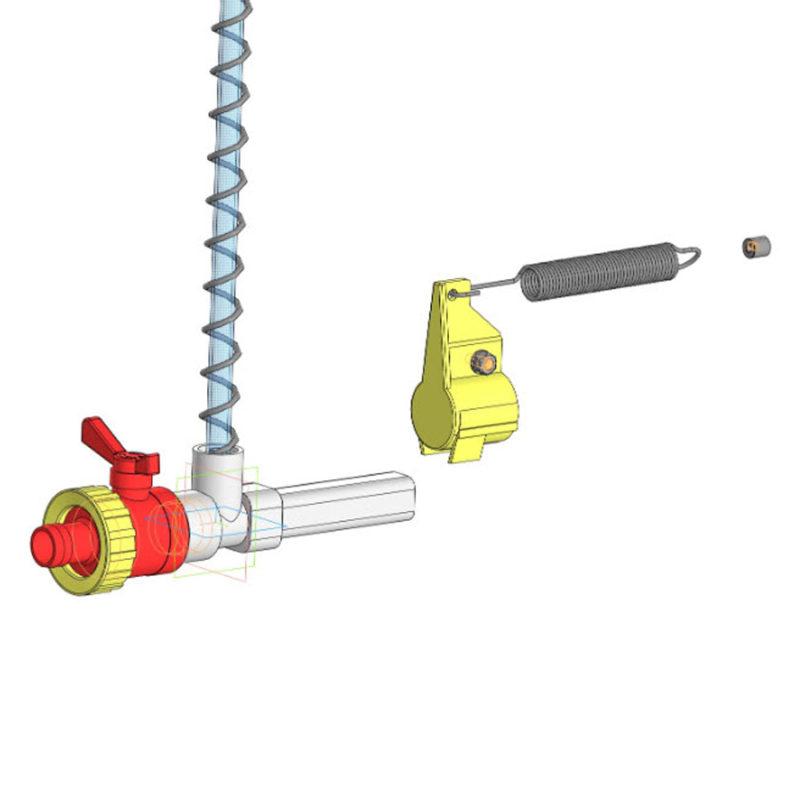 Кінцевий вузол для труби напування квадратного перетину