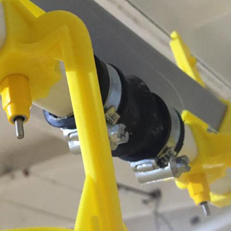 Муфта соединительная резиновая с компенсатором для стыка труб поения