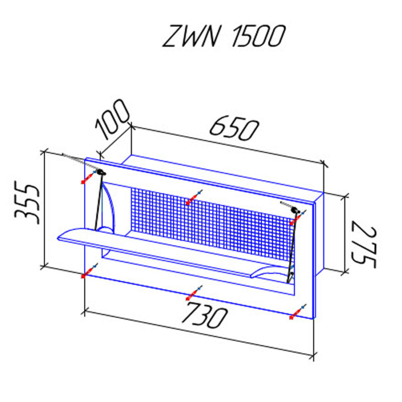 Стеновой приточный клапан ZWN 1500