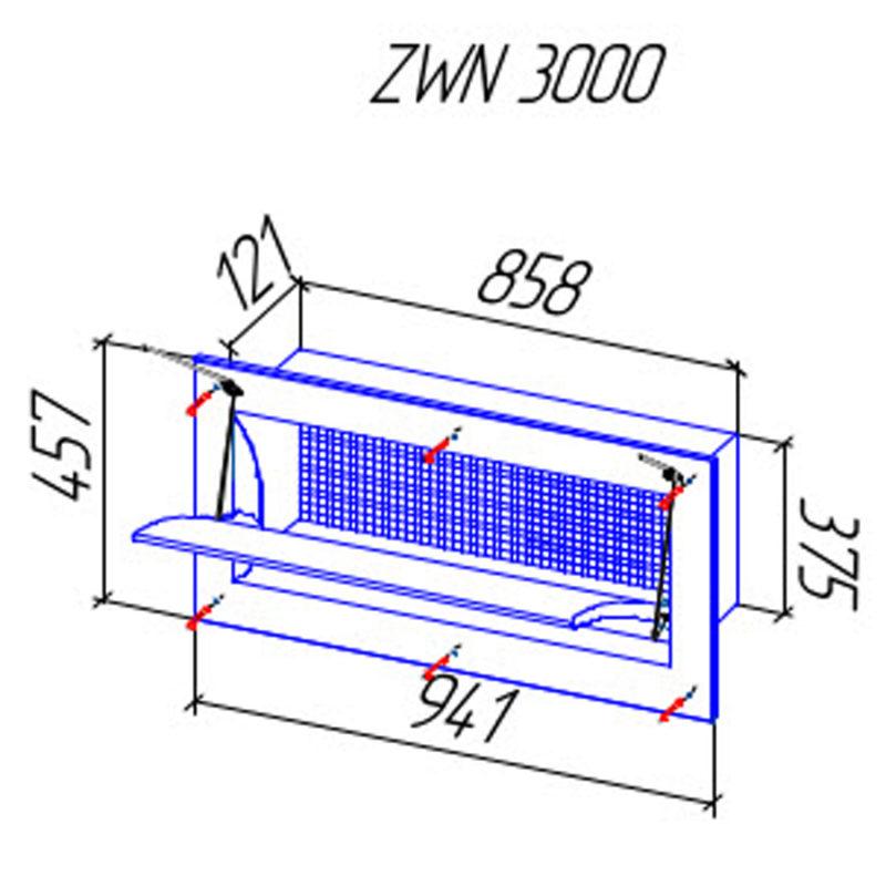Стеновой приточный клапан ZWN 3000