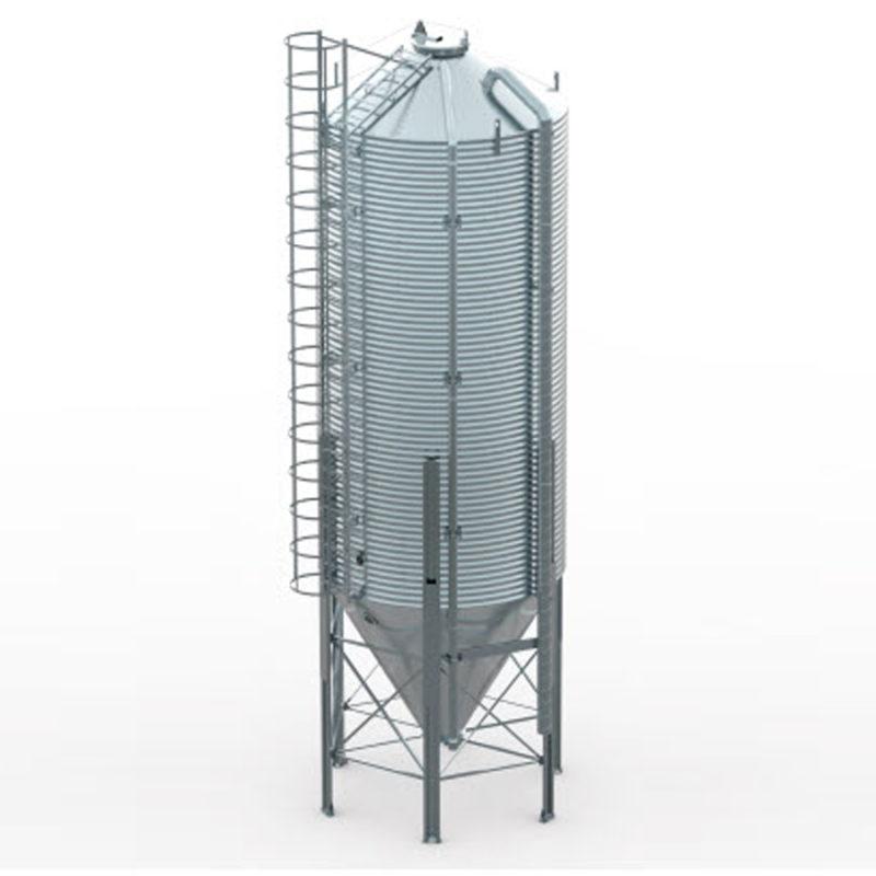 Бункер для корма 23,2 т / 34,6 м куб с пневмо и механической загрузкой