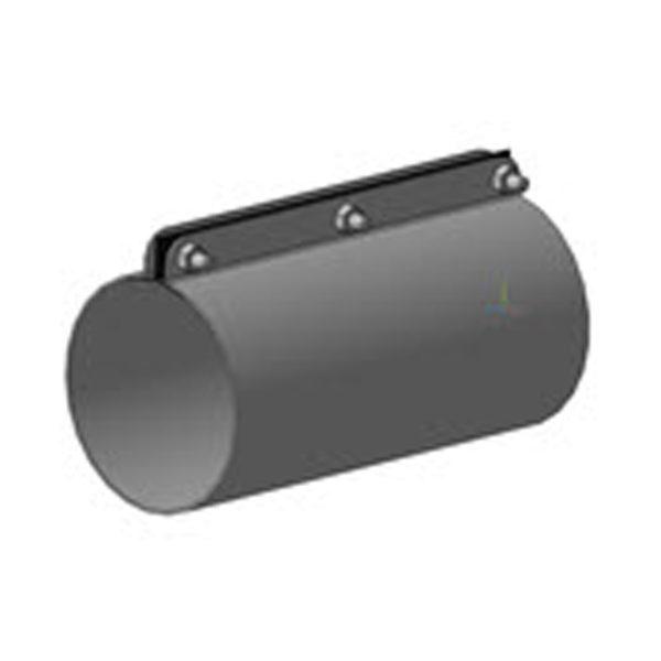 Муфта для крепления металлического колена и труб ПВХ