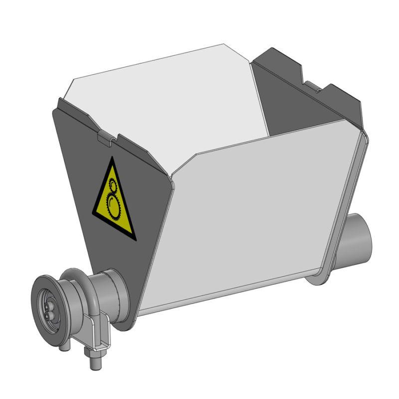 Поддон для приёмного бункера (хоппера)