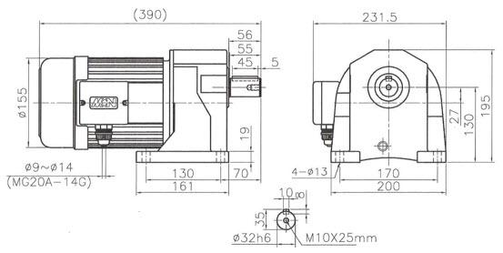 Мотор-редуктор NL05-28025402 - 0,25 кBт