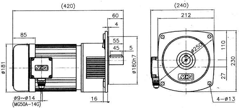 Мотор-редуктор NF05-32150252 - 1,5 кВт