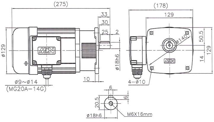 Мотор-редуктор NF05-18018502 - 0,18 кВт