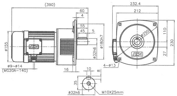 Мотор-редуктор NF32075702 - 0,75 кВт